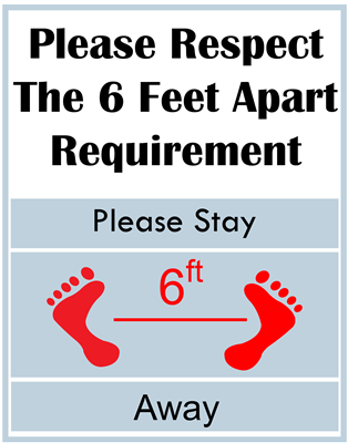 """Please Stay Six Feet Away"" Posters"