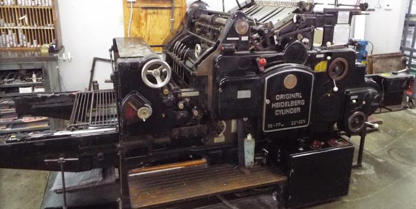 Heidelberg Cylinder Press (die cutter) 22
