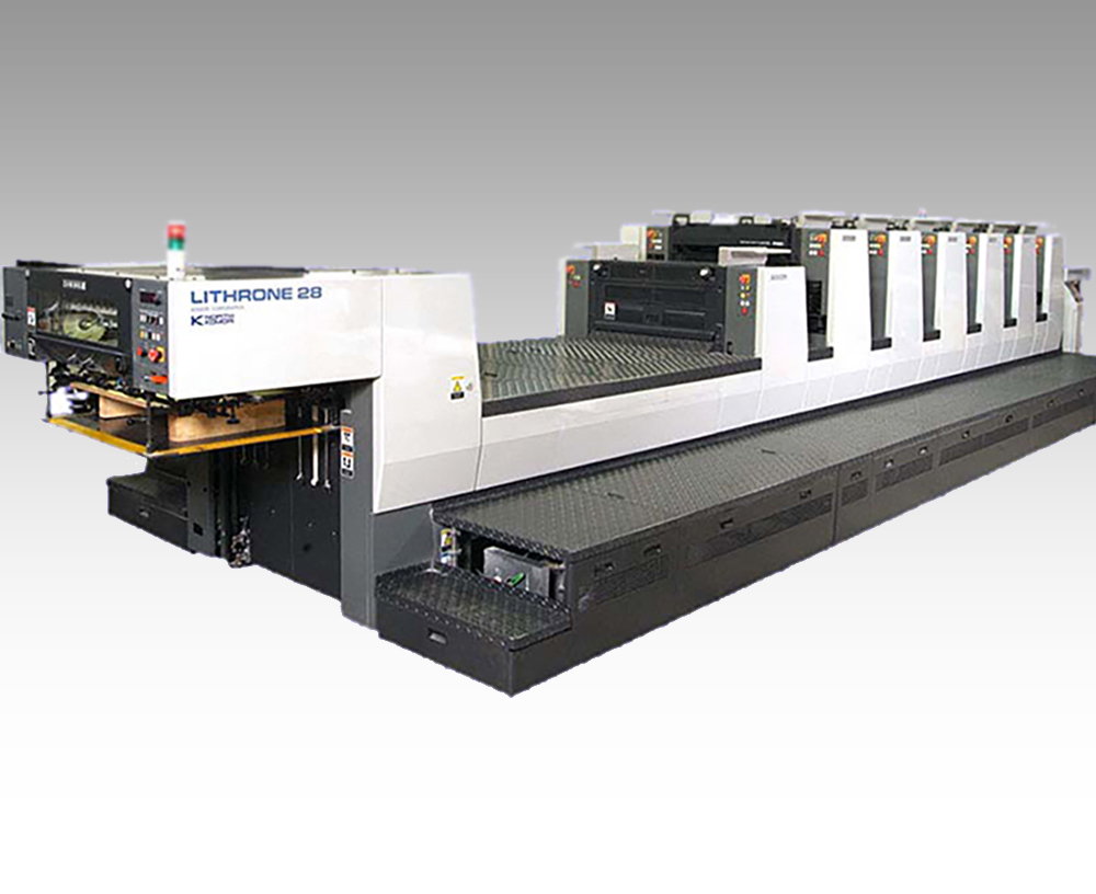 Offset printing on the Komori Lithrone 28
